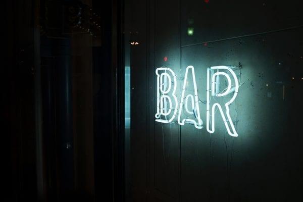 photo neon bar sign
