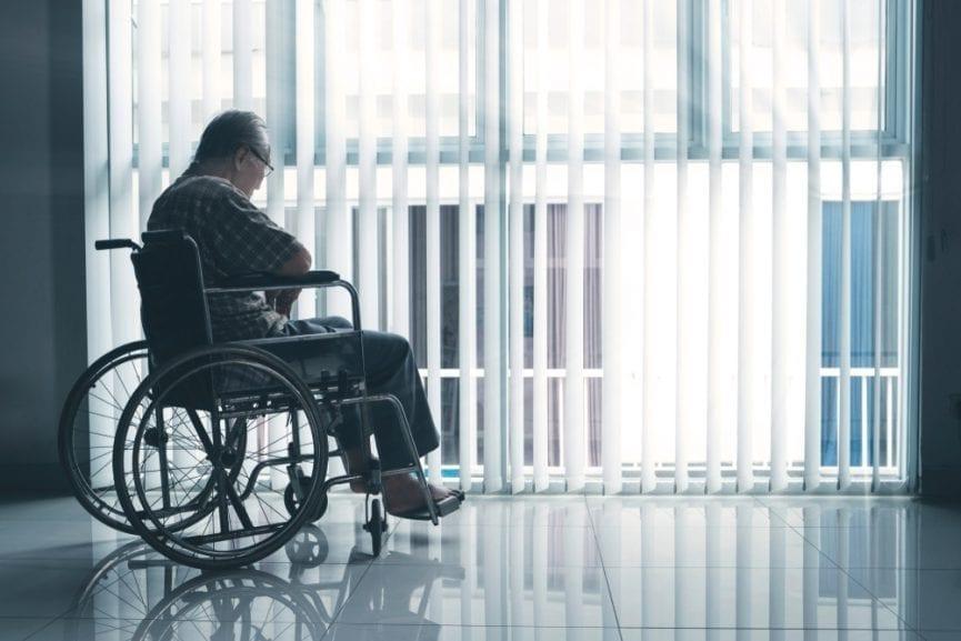 Elderly Man suffering from nursing home neglect
