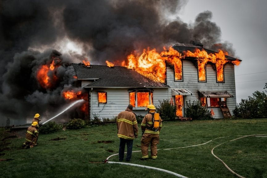 Burning Building Arson Charge